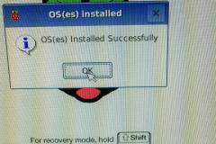 Raspbian erfolgreich installiert
